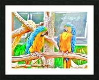 BirdsTalking Picture Frame print