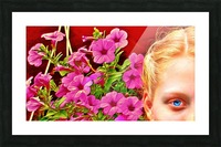 womanflowersEYE Picture Frame print