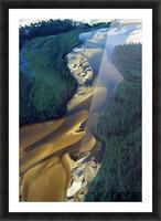 Aerial View Of Williams River That Runs Through Athabaska Dune Fields, Northern Saskatchewan. Picture Frame print