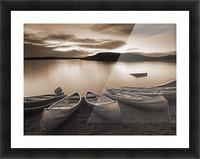 Elkwater Lake, Cypress Hills Interprovincial Park, Eklwater Alberta Canada. Picture Frame print