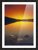 Reesor Lake At Sunset, Cypress Hills Interprovincial Park, Elkwater, Alberta, Canada Picture Frame print