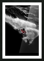 Dark Freeride Picture Frame print