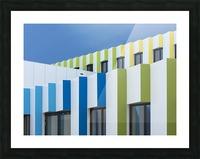 Triple facades Picture Frame print