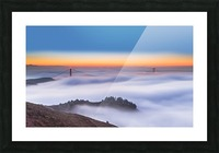The Golden Gate Bridge in the Fog Picture Frame print