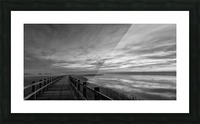 The long wooden footbridge. Dark version. Picture Frame print