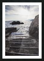 A small boat ramp along the Borak coast, near Trpanj; Borak, Croatia Picture Frame print