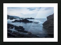 Waiao beach in Yilan County, beautiful volcanic landscape; Taiwan, China Picture Frame print