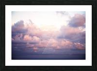 Cumulous pink clouds over horizon; Aina Haina, Oahu, Hawaii, United States of America Picture Frame print