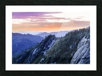 View from Moro Rock at dusk, Sequoia National Park; California, United States of America Picture Frame print