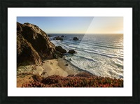 Cliffs along Big Sur coastline near Rocky Creek Bridge on Highway One; California, United States of America Picture Frame print