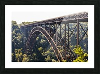 The New River Gorge Bridge is a steel arch bridge 3,030 feet long over the New River Gorge near Fayetteville, in the Appalachian Mountains of the Eastern United States; West Virginia, United States of America Picture Frame print