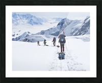 Mountaineer Group Descends Into The Maccarthy Gap On The King Trench Route, Mt. Logan, Kluane National Park, Yukon Territory, Canada, Summer Picture Frame print