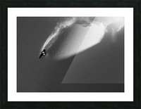 Person extreme snowboarding in mountains above Haines, Southeast Alaska, USA Picture Frame print
