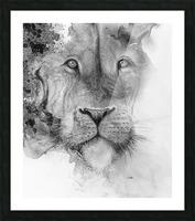 Illustration of a lion's face and a mottled background Impression et Cadre photo