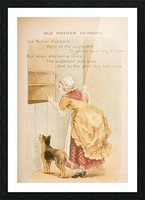 Old Mother Hubbard from Old Mother Goose's Rhymes and Tales  Illustration by Constance Haslewood  Published by Frederick Warne & Co London and New York circa 1890s  Chromolithography by Emrik & Binger of Holland Picture Frame print