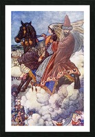 The Story of the Enchanted Horse. Illustration by Charles Folkard from the book The Arabian Nights published 1917 Picture Frame print