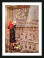 Coloured illustration by Eleanor Fortescue Brickdale illustrating the poem Death the Leveller by Shirley. From the book Palgrave's Golden Treasury of Songs and Lyrics published 1919. Picture Frame print