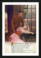 Original  First World War postcard Picture Frame print