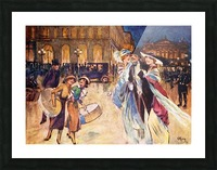 The Heart of Fashionable Paris. Colour illustration from the book France by Gordon Home published 1918 Picture Frame print