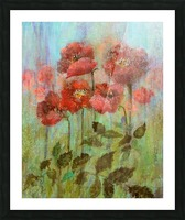 Poppies In Pastel Red Picture Frame print