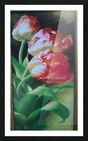 red flowers for  lovers  Picture Frame print