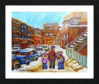 BEAUTIFUL DAY FOR A WALK IN MONTREAL Picture Frame print
