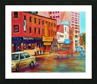 RUE ST LAURENT MONTREAL CINEMA LAMOUR Picture Frame print