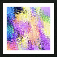 flower pattern abstract background in purple yellow blue green Picture Frame print