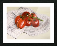 Tomatoes on a Striped Cloth  Picture Frame print