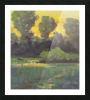 Pasture at dusk Picture Frame print