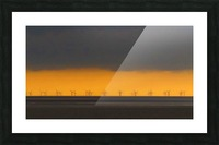 Windfarm layers Picture Frame print