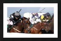 Whip race Picture Frame print
