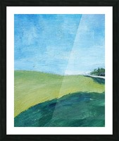 Study for Fields at Cossall Picture Frame print