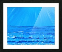 27_027 waves R Picture Frame print