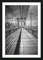 NEW YORK CITY Brooklyn Bridge Picture Frame print