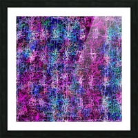psychedelic abstract art pattern texture background in pink blue black Picture Frame print
