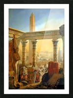 Monuments of Egypt, 1821 Picture Frame print