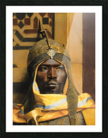 Portrait of Nubian Palace Guard Picture Frame print