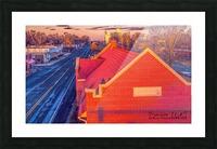 Lonoke, AR   Red Oak  Picture Frame print
