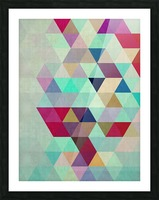 Cosmetic triangles IV Picture Frame print