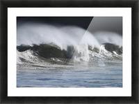 Waves Crashing On Mill Bay Beach Kodiak Island Southwest Alaska Autumn Picture Frame print