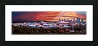 Calgary After the Storm - Fire in the Sky Picture Frame print