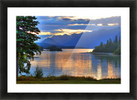 Sunrise On Lake Clark In Lake Clark National Park, Southcentral, Alaska, Hdr Image Picture Frame print