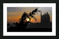 Fern castle sunset Picture Frame print