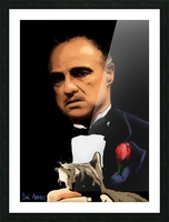Marlon Brando - The Godfather Picture Frame print