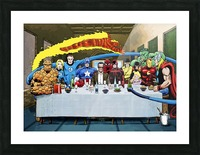 Marvel Superheroes: Stan Lee's Super Supper with Avengers, Fantastic Four, X-Men, Spider-Man & More Picture Frame print
