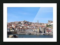 Oporto City at Douro River Picture Frame print