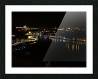 Oporto Night ligths Picture Frame print