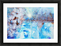 Abstract watercolour painting with a starburst Picture Frame print