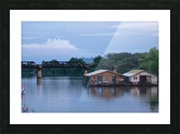 Boat trip on the river Kwai with sunset Picture Frame print